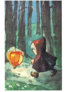 Postcard Mili Weber - Light my Way, Little Lantern