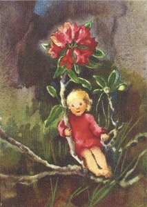 Postcard Mili Weber - Little Alpine Rose
