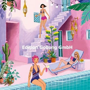 Mila Marquis Postcard   Women at the pool
