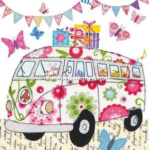 Nina Chen Postcard | VW-Bus