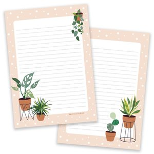 Little Lefty Lou Briefpapierblok Vintage Flower Notepad Double Sided Stationery Heaven