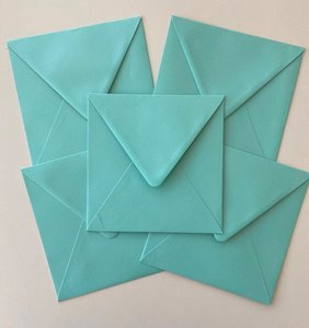 Set of 5 Envelopes 145x145 - Caribbean