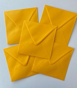 Set of 5 Envelopes 145x145 - ocher yellow
