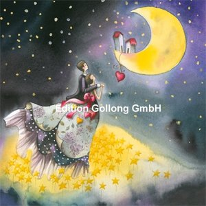 Nina Chen Postcard | Couple looks at moon