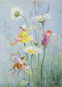 Postcard Margaret Tarrant   Joan in Flowerland