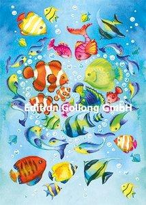 Nina Chen Postcard | Fishes