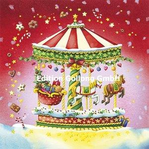 Nina Chen Postcard Christmas   Carousel