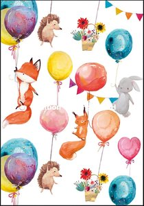Double Card | Animals with balloons