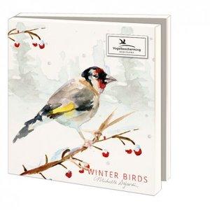 Card folder with envelopes - square: Winter Birds, Michelle Dujardin, Vogelbescherming Nederland