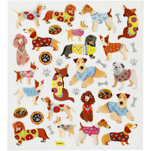 Seal Sticker with Glitter Foil   Dogs