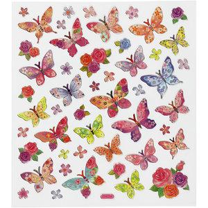 Seal Sticker with Silver Foil | Butterflies