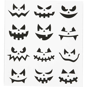 Halloween Seal Sticker | Faces
