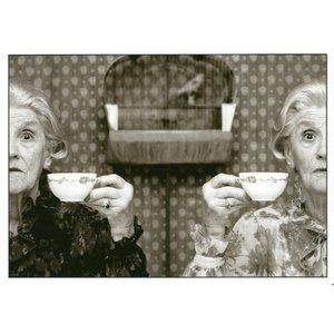 Postcard Gutrath Verlag | Teatime with bird