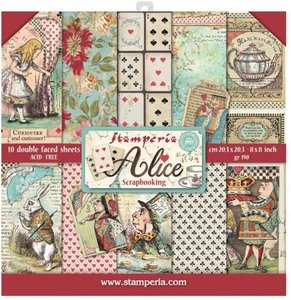 Stamperia Alice 8x8 Inch Paper Pack