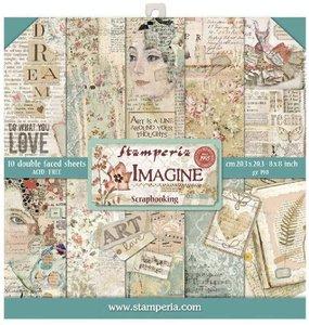 Stamperia Imagine 8x8 Inch Paper Pack