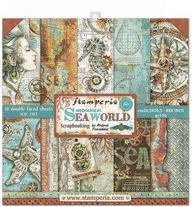 Stamperia Sea World 8x8 Inch Paper Pack