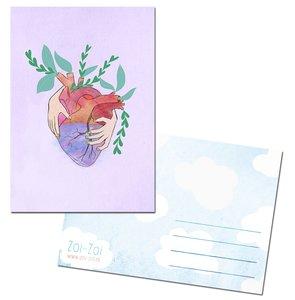 Heart Postcard by Zoi-Zoi