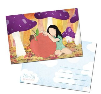Apple Postcard by Zoi-Zoi