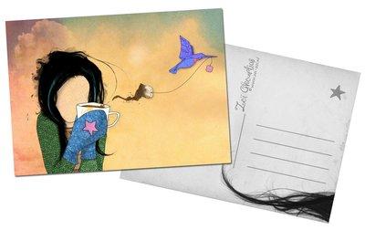 T-bird Postcard by Zoi-Zoi
