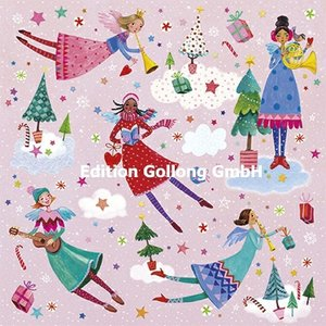 Mila Marquis Postcard Christmas | Angels make music