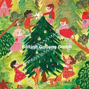 Caroline Bonne-Müller Postcard Christmas | Children decorate fir tree