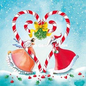 Nina Chen Postcard Christmas | Santa and angel