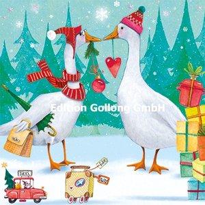 Nina Chen Postcard Christmas | Two geese