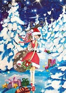 Sabina Comizzi Postcard   Christmas woman in the snow
