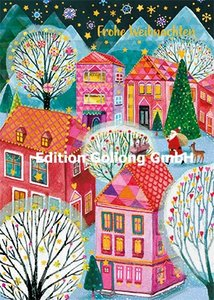 Mila Marquis Postcard | Frohe Weihnachten (Houses)