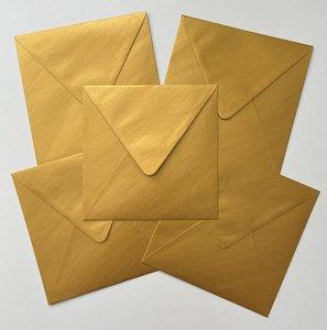 Set of 5 Envelopes 145x145 - Gold