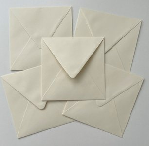 Set of 5 Envelopes 145x145 - Chamois