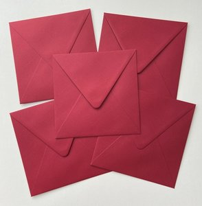 Set of 5 Envelopes 145x145 - Rosso
