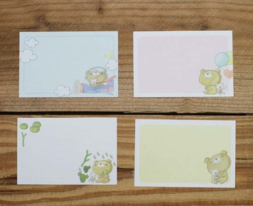 Dear Little Bear Memo Notepaper Set (Airplane)