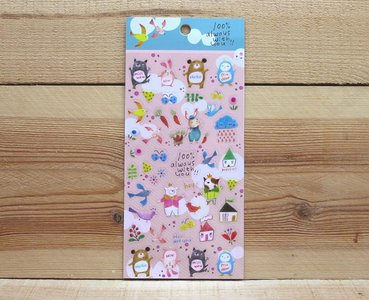 Cute Animals Clear Stickers