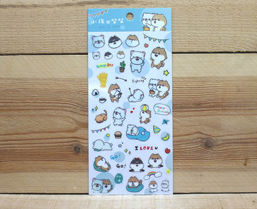 John and Shiba Dogs Clear Stickers