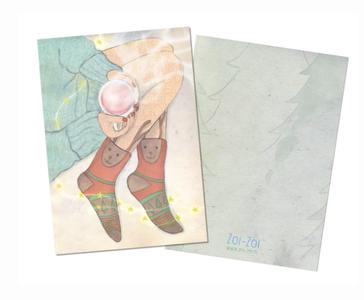 Warm Socks Postcard by Zoi-Zoi