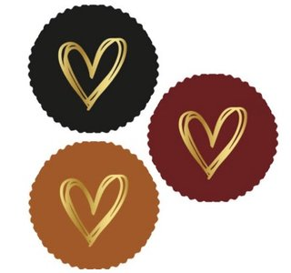 6 Stickers | Golden Heart Autumn Mix