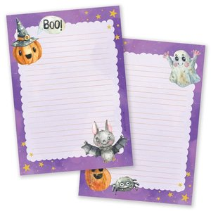 A5 Halloween Notepad - Double Sided - Purple