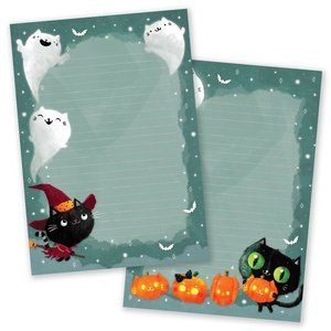 A5 Halloween Notepad - Double Sided - Cats