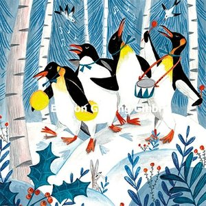 Caroline Bonne-Müller Postcard Christmas | Penguins