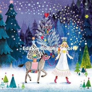 Mila Marquis Postcard Christmas   Angel with donkey