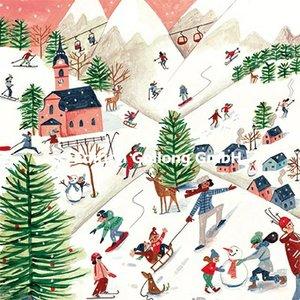 Caroline Bonne-Müller Postcard Christmas | Schifahren