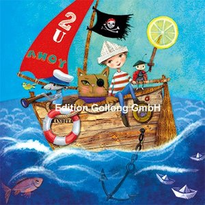 Mila Marquis Postcard | Pirate ship
