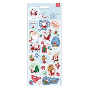 Papermania At Home with Santa Sticker Sheet (PMA 157984)