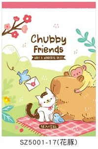 Letter Paper Mix | Chubby Friends Pink