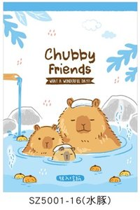 Letter Paper Mix | Chubby Friends Blue