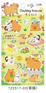 Chubby Friends Bronzing Stickers