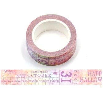 Halloween Washi Masking Tape | Coloured Calendar Halloween