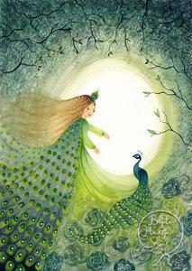 Postcard | Peacock princess