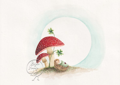 Postcard   Mushroom Baby